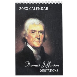 Calendario De Pared Citas de Thomas Jefferson