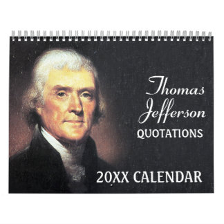 Calendario De Pared Citas de Thomas Jefferson con la foto presidencial