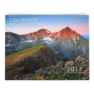 Calendario De Pared Colorado 2017 Fourteerners