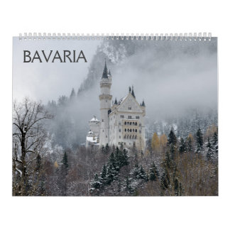 Calendario de pared de Baviera 2018