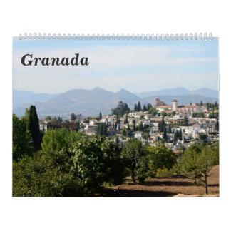 calendario de pared de Granada de 12 meses