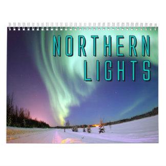 Calendario de pared de la aurora boreal