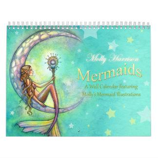 Calendario de pared de la sirena por Molly