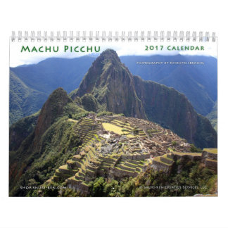 Calendario de pared de Machu Picchu