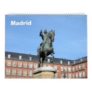 calendario de pared de Madrid de 12 meses