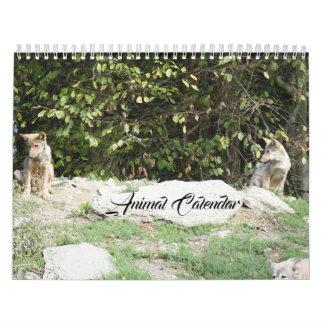Calendario De Pared El animal acaricia destino del destino del amor de