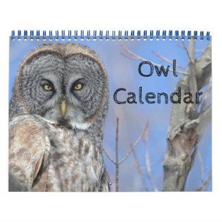 Calendario De Pared El destino del búho del pájaro de vida de la