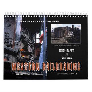 Calendario De Pared El Railroading occidental