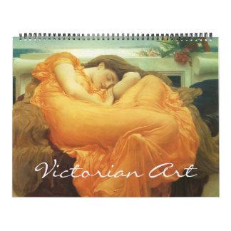 Calendario De Pared Era del Victorian del vintage y arte del