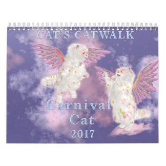 Calendario De Pared Gato 2017 del carnaval