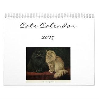 Calendario De Pared Gatos hermosos