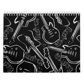 Calendario De Pared Guitarra de la roca