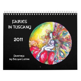 Calendario De Pared HADAS EN la fantasía 2017 de TOSCANA