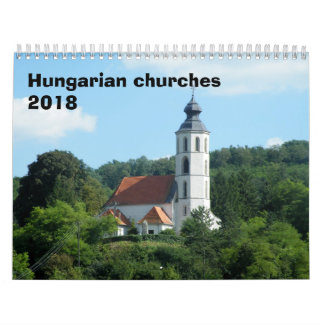 Calendario De Pared Iglesias húngaras 2018