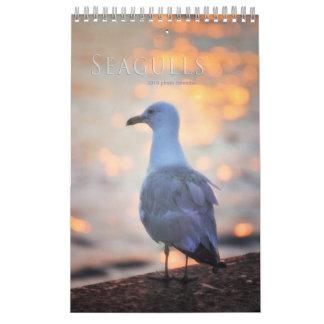 Calendario De Pared La gaviota fotografía los pájaros de Toronto en la