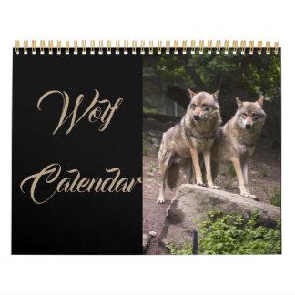 Calendario De Pared La luna del aullido del lobo protagoniza los