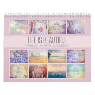 Calendario De Pared La vida es fotos inspiradas hermosas del pastel