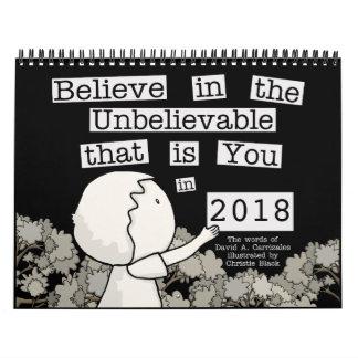 Calendario De Pared Little Boy arregla las palabras 2018 (el medio)