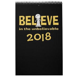 """Calendario De Pared Little Boy como """""""" adentro creo 2018"""