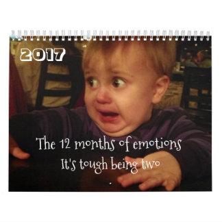 Calendario De Pared Los 12 meses de los problemas del emoción-niño.