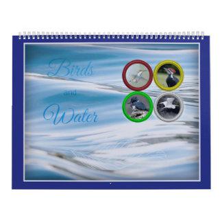 Calendario De Pared Pájaros y agua (de gran tamaño)