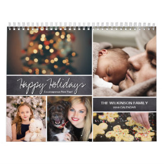 Calendario De Pared Personalizado buenas fiestas, Año Nuevo, foto