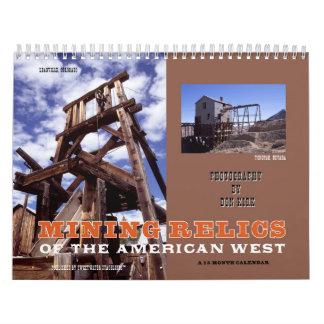 Calendario De Pared Reliquias de la explotación minera del oeste