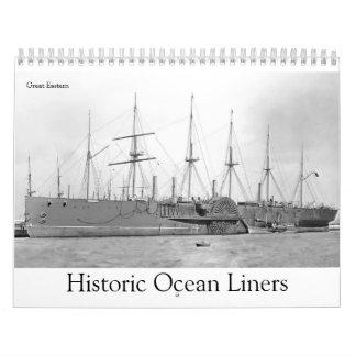 Calendario De Pared Revestimientos marinos históricos