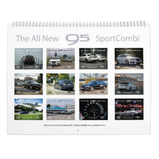 Calendario De Pared Saab 9-5 NG Sportcombi Calendar 2018