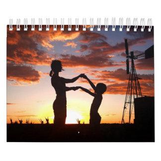 Calendario De Pared Siluetas de la gente