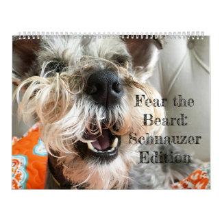 Calendario De Pared Tema la barba: Edición del Schnauzer