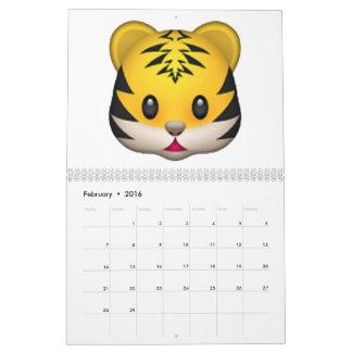 Calendario De Pared Tigre - Emoji