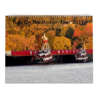 Calendario De Pared Tirones en el río Hudson 2017