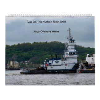 Calendario De Pared Tirones en el río Hudson---Kirby a poca distancia