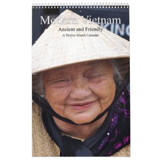 Calendario De Pared Vietnam moderno antiguo y amistoso