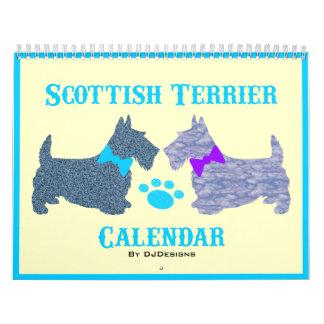 Calendario de Terrier del escocés