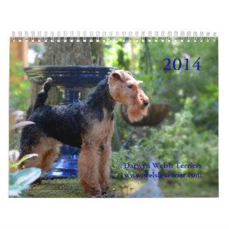 Calendario de Terrier galés 2014 por Darwyn