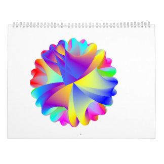 Calendario del arco iris del arte abstracto 2017