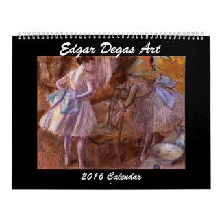 Calendario del arte 2016 de Edgar Degas