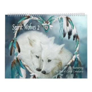 Calendario del arte de los lobos 2 del alcohol