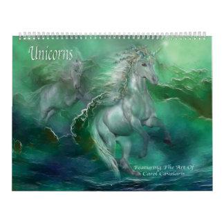 Calendario del arte de los unicornios