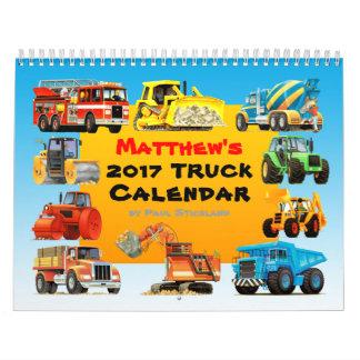 Calendario del camión de la construcción de 2017