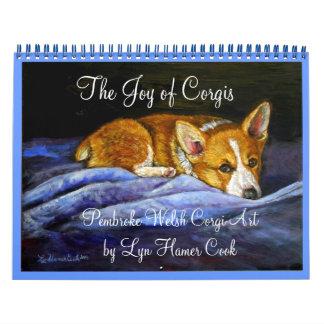 Calendario del Corgi Galés del Pembroke la alegría