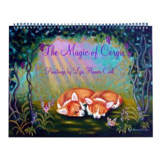 Calendario del Corgi Galés del Pembroke la magia
