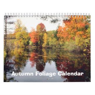 Calendario del follaje 2017 del otoño de la caída