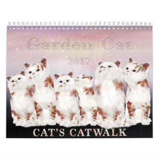 Calendario del gato 2017 del jardín