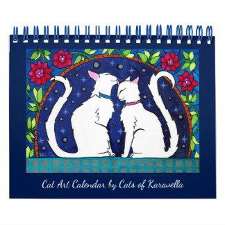 Calendarios De Pared Calendario del gato por los gatos del taller de