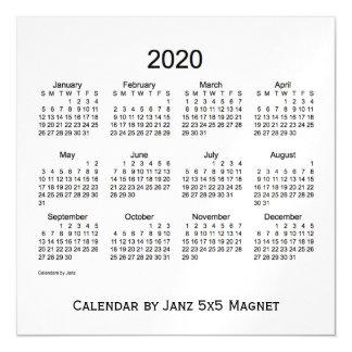 Calendario del humo de 2020 blancos por el imán de