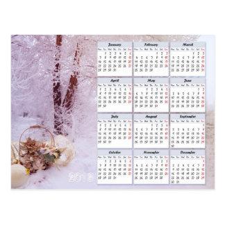 Calendario del invierno para 2013 postal