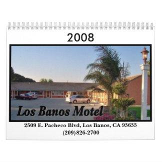 Calendario del motel del Los Banos